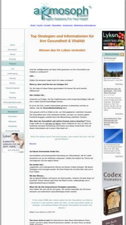 Vorschau der mobilen Webseite www.higher-solutions-for-your-health.com, Akmosoph.com