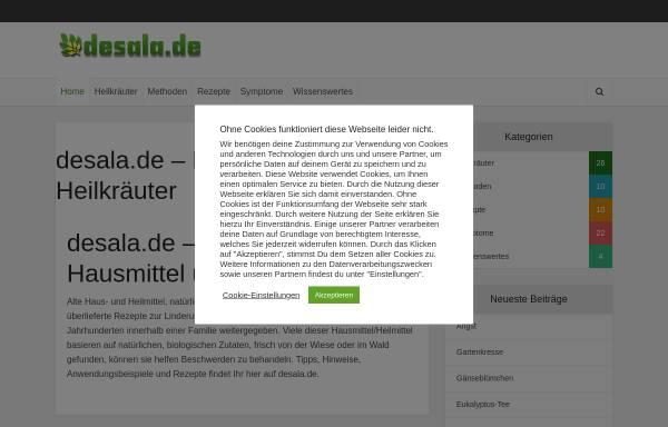 Vorschau von www.desala.de, Alte Hausmittel