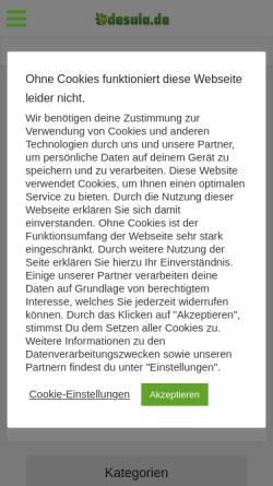 Vorschau der mobilen Webseite www.desala.de, Alte Hausmittel