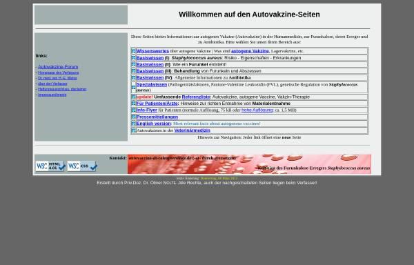 Vorschau von www.autovaccine.de, Autovakzine
