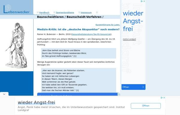 Vorschau von www.lebenswecker.de, Baunscheidtismus