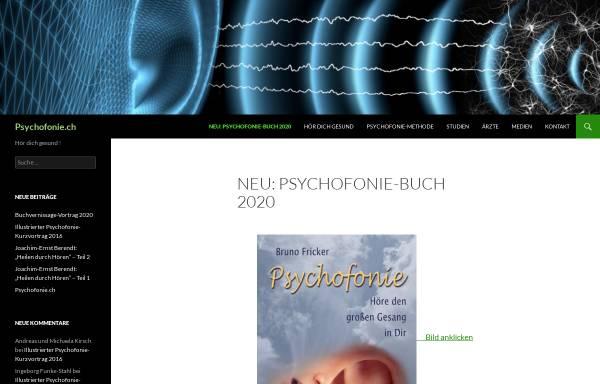 Vorschau von www.psychofonie.ch, Forum Psychofonie Schweiz