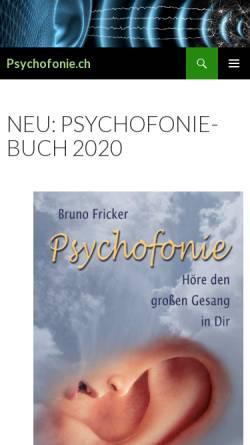 Vorschau der mobilen Webseite www.psychofonie.ch, Forum Psychofonie Schweiz