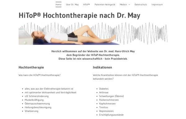 Vorschau von www.dr-med-may.de, Hochtontherapie nach Dr. Hans-Ulrich May