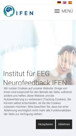 Vorschau der mobilen Webseite www.neurofeedback-info.de, Institut für EEG-Neurofeedback