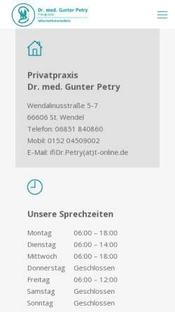 Vorschau der mobilen Webseite www.institut-fuer-informationsmedizin.de, Institut für Informationsmedizin