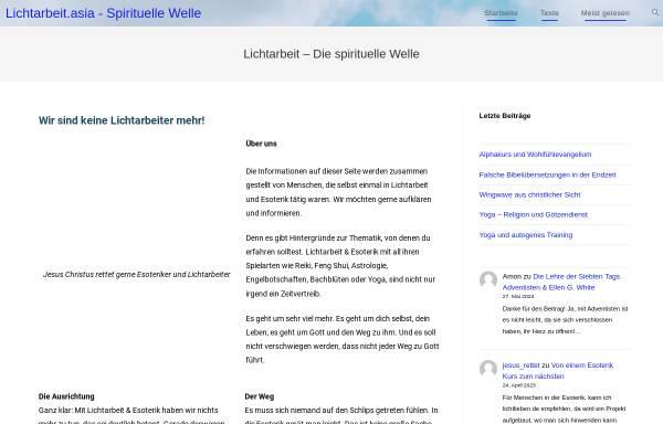Vorschau von www.lichtarbeit.asia, Lichtarbeit.asia