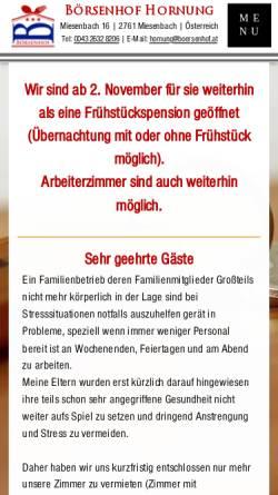 Vorschau der mobilen Webseite www.boersenhof.at, Hotel Börsenhof