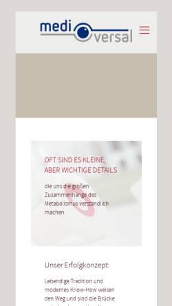 Vorschau der mobilen Webseite mediversal.de, Medi Versal