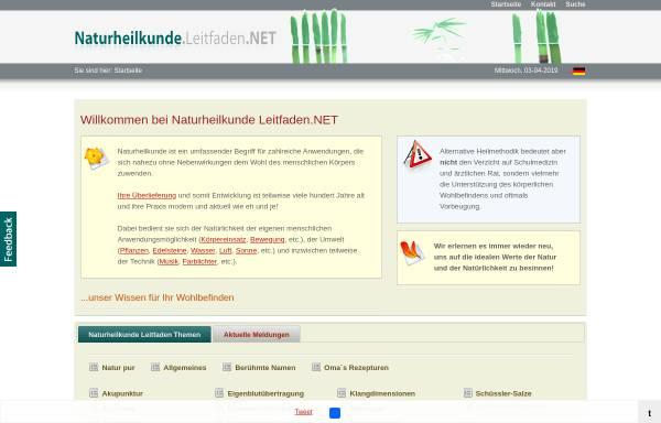 Vorschau von www.naturheilkunde.leitfaden.net, Naturheilkunde