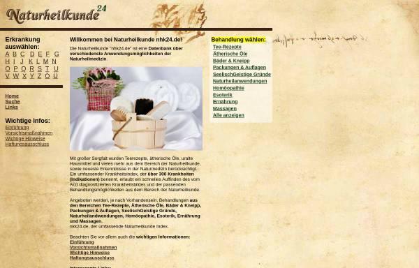 Vorschau von www.nhk24.de, Naturheilkunde Online