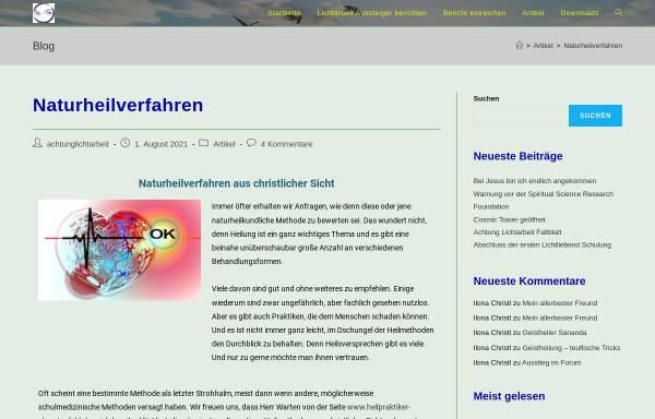 Vorschau von www.achtung-lichtarbeit.de, Achtung Lichtarbeit