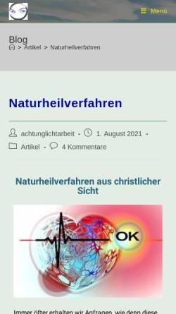 Vorschau der mobilen Webseite www.achtung-lichtarbeit.de, Achtung Lichtarbeit