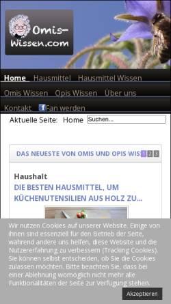Vorschau der mobilen Webseite www.omis-wissen.com, Omis Wissen