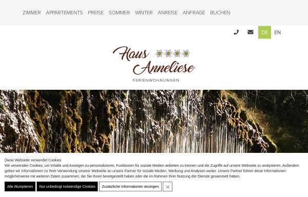 Vorschau von www.hausanneliese.com, Appartements Haus Anneliese