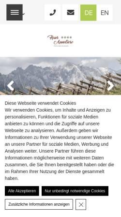 Vorschau der mobilen Webseite www.hausanneliese.com, Appartements Haus Anneliese