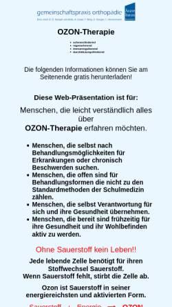 Vorschau der mobilen Webseite www.aerztliche-ozontherapie.de, Ozontherapie