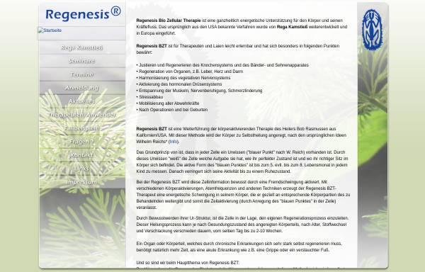 Vorschau von www.regenesis-therapie.de, Regenesis-Therapie