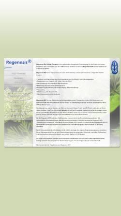 Vorschau der mobilen Webseite www.regenesis-therapie.de, Regenesis-Therapie
