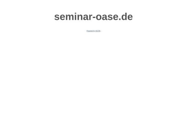 Vorschau von www.seminar-oase.de, Die Seminar-Oase