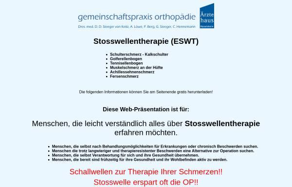 Vorschau von www.schmerzfrei-mit-stosswelle.de, Stosswellentherapie