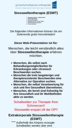 Vorschau der mobilen Webseite www.schmerzfrei-mit-stosswelle.de, Stosswellentherapie