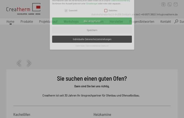 Vorschau von www.creatherm.de, Creatherm.de