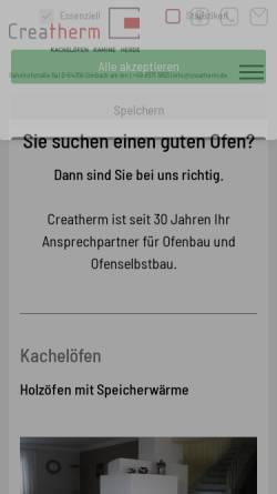 Vorschau der mobilen Webseite www.creatherm.de, Creatherm.de