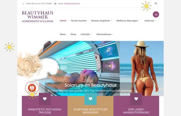 Vorschau von www.beautyhaus.at, Wimmer Cosmetics GmbH