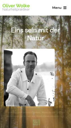 Vorschau der mobilen Webseite www.oliver-wolke.com, Oliver Wolke, Naturheilpraxis