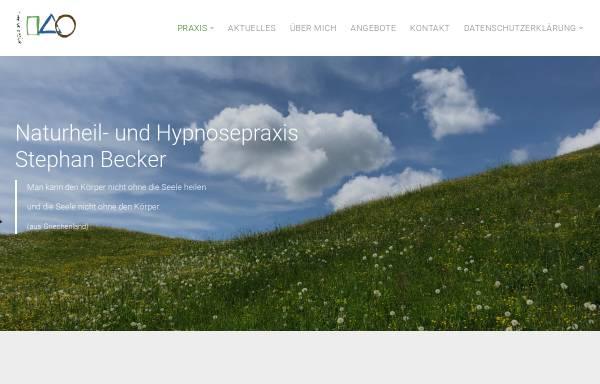 Vorschau von www.stephan-becker.de, Stephan Becker, Heilpraktiker