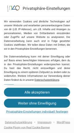 Vorschau der mobilen Webseite www.stephan-becker.de, Stephan Becker, Heilpraktiker