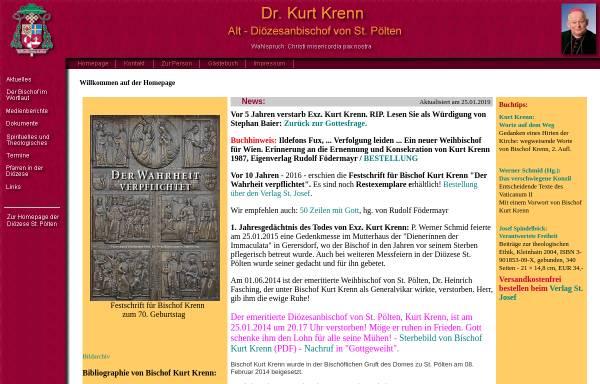 Vorschau von www.stjosef.at, Alt-Diözesanbischof Dr. Kurt Krenn von St. Pölten