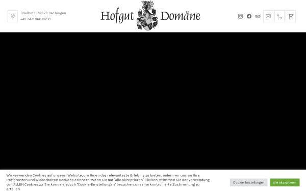 Vorschau von www.hofgut-domaene.de, Hofgut Domäne