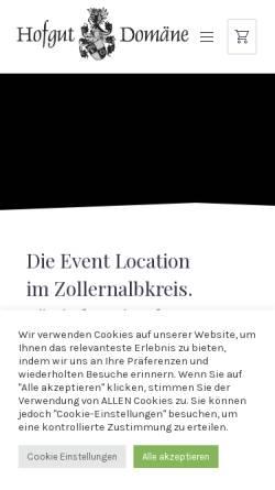 Vorschau der mobilen Webseite www.hofgut-domaene.de, Hofgut Domäne