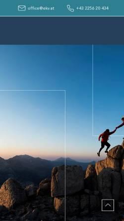 Vorschau der mobilen Webseite www.ekv.at, EKV Jürgen Sponer, MBA Versicherungsmakler GmbH