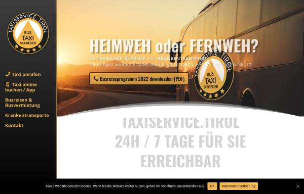 Vorschau von www.busreisen-schreder.at, Busreisen Schreder
