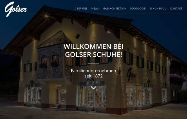 Vorschau von www.golser-schuh.at, Golser Schuhe