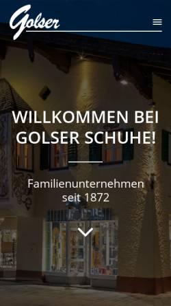 Vorschau der mobilen Webseite www.golser-schuh.at, Golser Schuhe