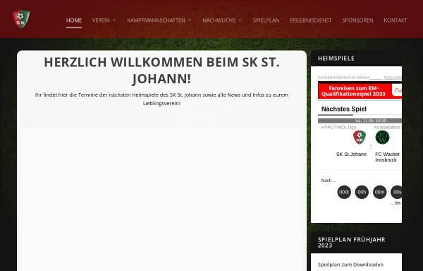 Vorschau von www.sk-stjohann.at, SK St. Johann in Tirol