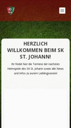 Vorschau der mobilen Webseite www.sk-stjohann.at, SK St. Johann in Tirol