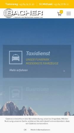 Vorschau der mobilen Webseite www.bacher-reisen.com, Bacher-Reisen