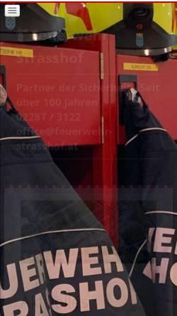 Vorschau der mobilen Webseite feuerwehr-strasshof.at, Feuerwehr Strasshof