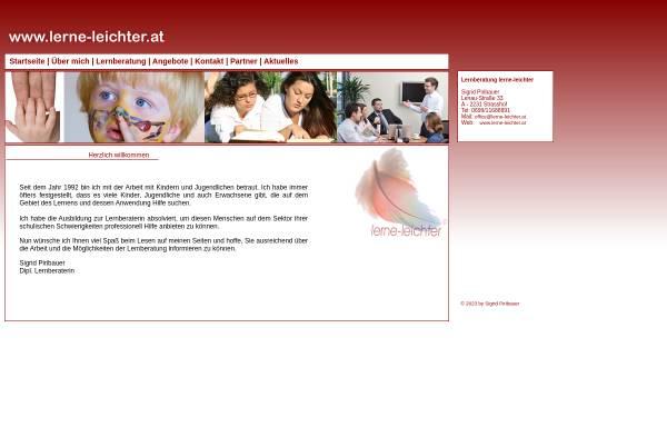 Vorschau von www.lerne-leichter.at, Lernberatung Sigrid Piribauer