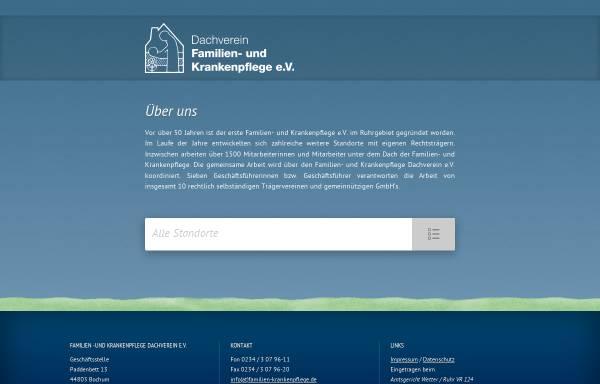 Vorschau von www.familien-krankenpflege.de, Familien- und Krankenpflege Dachverein e.V.