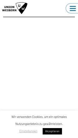 Vorschau der mobilen Webseite union.weibern.at, Union Weibern - Sektion Fußball