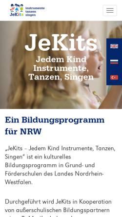 Vorschau der mobilen Webseite www.jedemkind.de, Stiftung