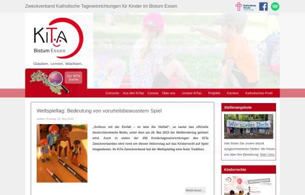 """Vorschau von www.kita-zweckverband.de, Zweckverband """"Katholische Tageseinrichtungen für Kinder im Bistum Essen"""""""
