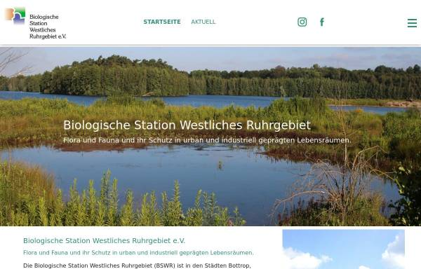 Vorschau von www.bswr.de, Biologische Station Westliches Ruhrgebiet e.V.