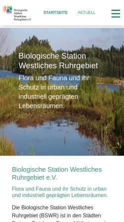 Vorschau der mobilen Webseite www.bswr.de, Biologische Station Westliches Ruhrgebiet e.V.